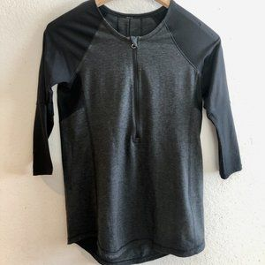 Lululemon,Size 4, Clip In, heather gray/black top
